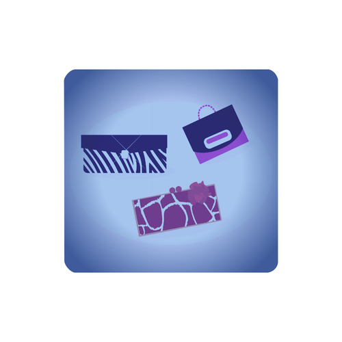 Exclusive designers wallet for lady : purple neon look / magazine art illustration Women's Clutch Wallet (Model 1637)