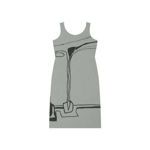 Sxisma Fashion Phaedra Collection-7 Phaedra Sleeveless Open Fork Long Dress (Model D08)