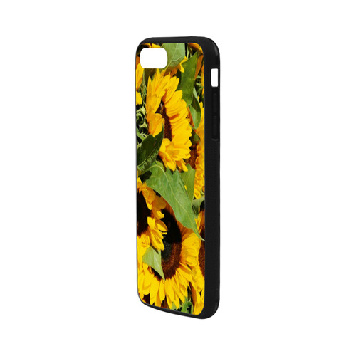 """Yellow Sunflowers Rubber Case for iPhone 7 plus (5.5"""")"""