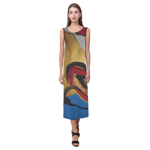 Sxisma Fashion Phaedra Collection-6 Phaedra Sleeveless Open Fork Long Dress (Model D08)