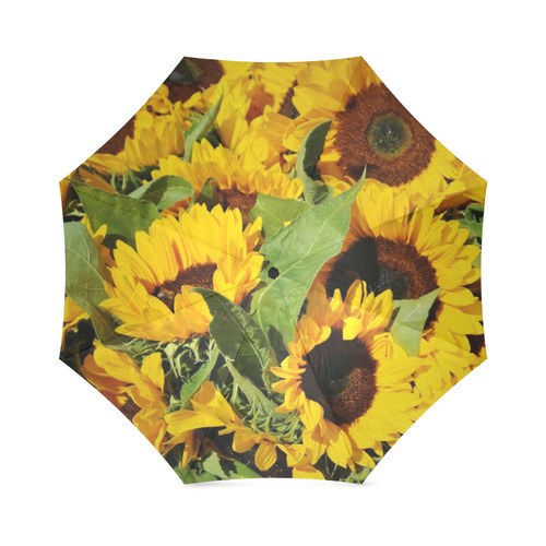 Yellow Sunflowers Foldable Umbrella