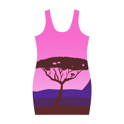 New! Luxury designers dress with Baobab. Africa Collection / Pink and brown edition 2016 Medea Vest Dress (Model D06)