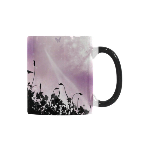 Pink Fairy Silhouette with bubbles Custom Morphing Mug