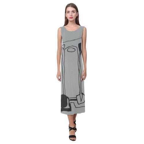Sxisma Fashion Phaedra Collection-9 Phaedra Sleeveless Open Fork Long Dress (Model D08)