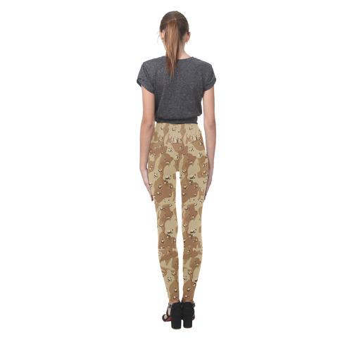 Desert Camouflage Pattern Cassandra Women's Leggings (Model L01)