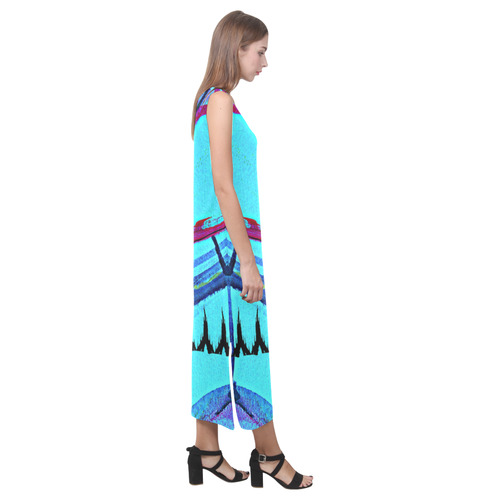 Sxisma Fashion Phaedra Collection-4 Phaedra Sleeveless Open Fork Long Dress (Model D08)