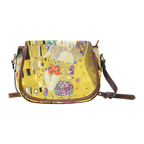 The Kiss Gustav Klimt Fine Art Saddle Bag/Small (Model 1649) Full Customization