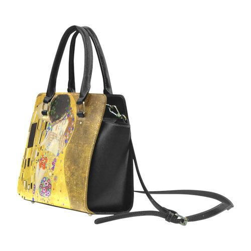 The Kiss Gustav Klimt Fine Art Classic Shoulder Handbag (Model 1653)