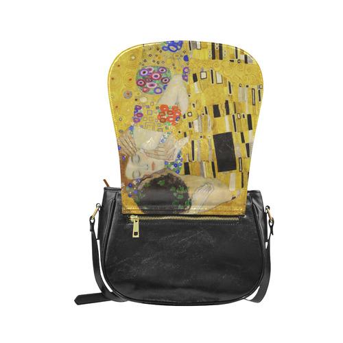 The Kiss Gustav Klimt Fine Art Classic Saddle Bag/Large (Model 1648)
