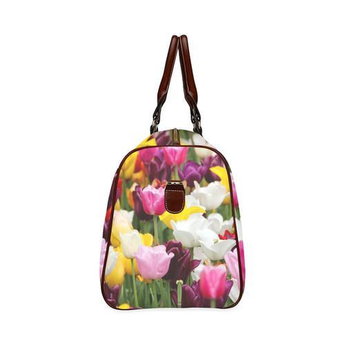 Pretty Spring Tulips Waterproof Travel Bag/Small (Model 1639)