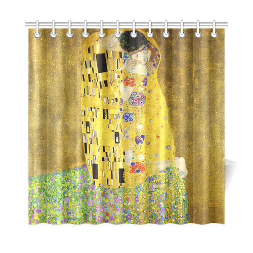 The Kiss Gustav Klimt Fine Art Shower Curtain