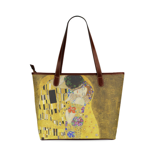 The Kiss Gustav Klimt Fine Art Shoulder Tote Bag (Model 1646)