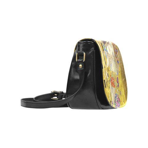 The Kiss Gustav Klimt Fine Art Classic Saddle Bag/Small (Model 1648)