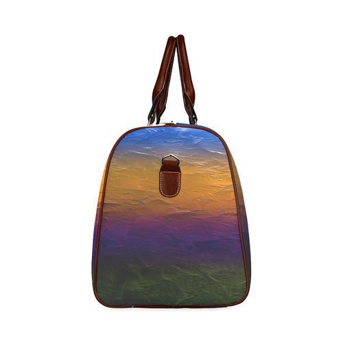 Sunset Painters Palette Waterproof Travel Bag/Large (Model 1639)