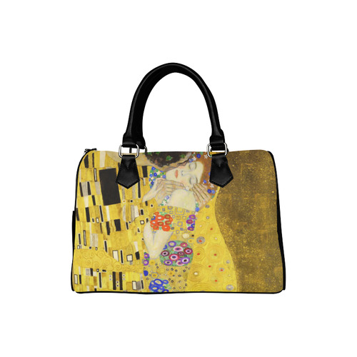 The Kiss Gustav Klimt Fine Art Boston Handbag (Model 1621)