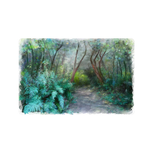 "Bush, original watercolor painting Doormat 23.6"" x 15.7"""