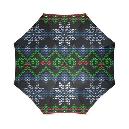 Ugly Christmas Sweater Knit Foldable Umbrella Model U01