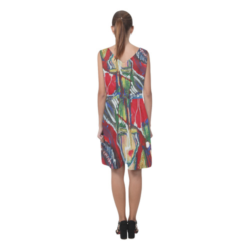 Sxisma Fashion Chryseis Collection-5 Chryseis Sleeveless Pleated Dress(Model D07)