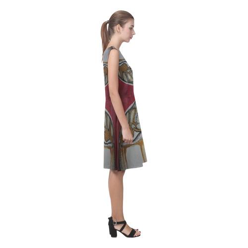 Sxisma Fashion Chryseis Collection-9 Chryseis Sleeveless Pleated Dress(Model D07)