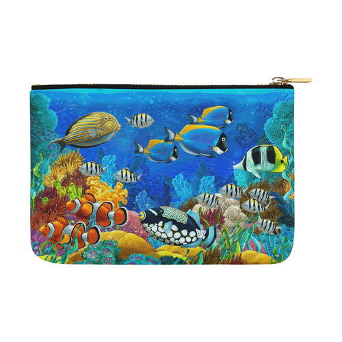 Clown Fish Tropical Coral Reef Carry-All Pouch 12.5''x8.5''