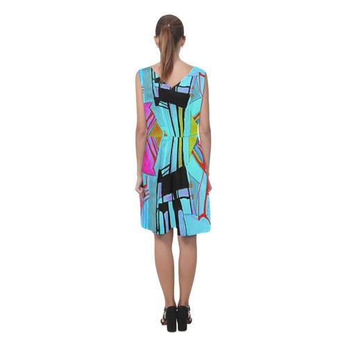 Sxisma Fashion Chryseis Collection-1 Chryseis Sleeveless Pleated Dress(Model D07)