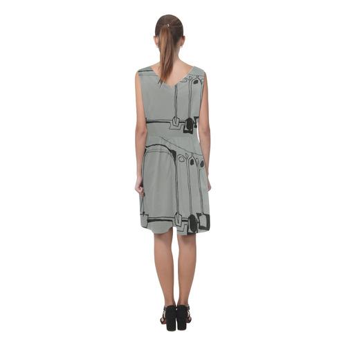 Sxisma Fashion Chryseis Collection-12 Chryseis Sleeveless Pleated Dress(Model D07)