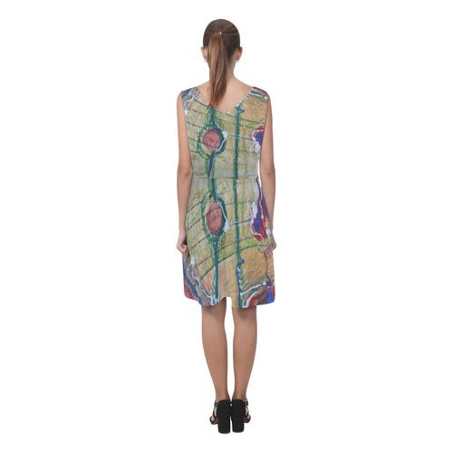 Sxisma Fashion Chryseis Collection-8 Chryseis Sleeveless Pleated Dress(Model D07)