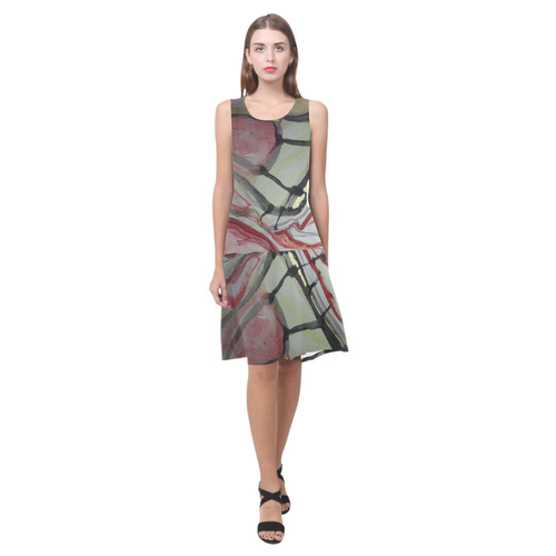 Sxisma Fashion Shift Dress Collection-10 Sleeveless Splicing Shift Dress(Model D17)