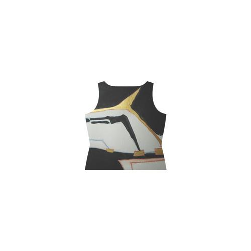 Sxisma Fashion Shift Dress Collection-8 Sleeveless Splicing Shift Dress(Model D17)