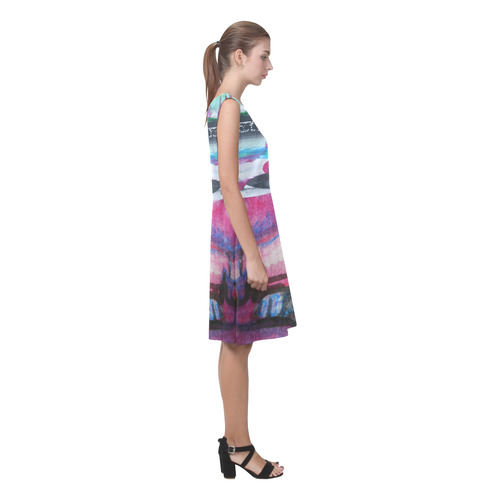 Sxisma Fashion Chryseis Collection-7 Chryseis Sleeveless Pleated Dress(Model D07)