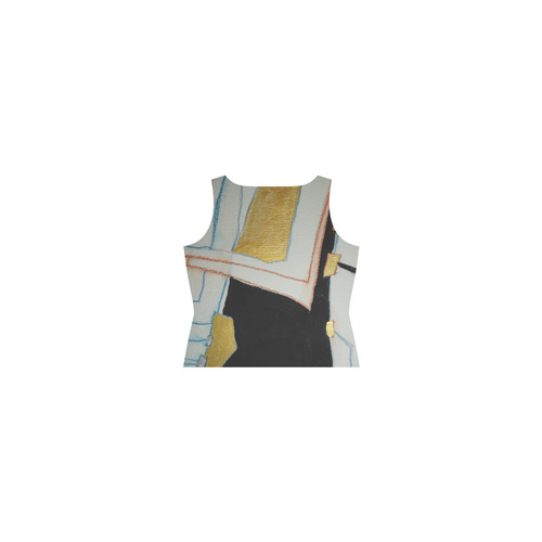 Sxisma Fashion Shift Dress Collection-9 Sleeveless Splicing Shift Dress(Model D17)