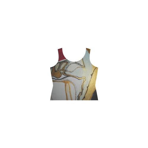 Sxisma Fashion Shift Dress Collection-12 Sleeveless Splicing Shift Dress(Model D17)
