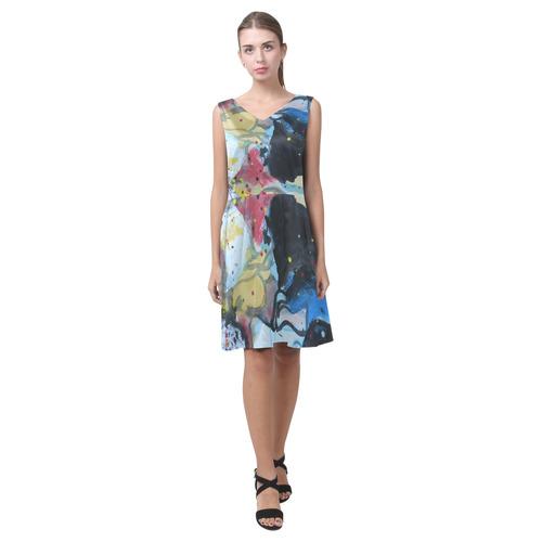 Sxisma fashion Chryseis Collection-2 Chryseis Sleeveless Pleated Dress(Model D07)