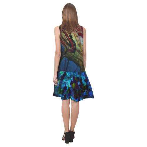 Sxisma fashion Shift Dress Collection-4 Sleeveless Splicing Shift Dress(Model D17)