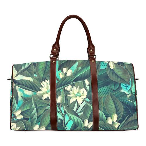 flowers Waterproof Travel Bag/Small (Model 1639)