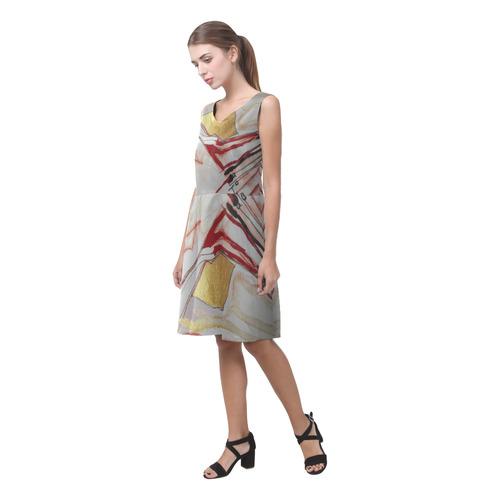 Sxisma Fashion Chryseis Collection-10 Chryseis Sleeveless Pleated Dress(Model D07)