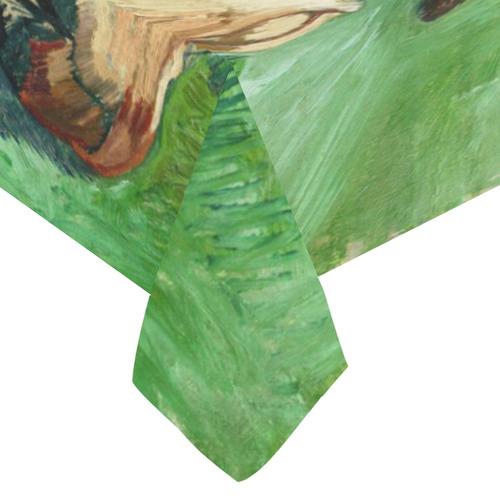 "Van Gogh Crab On Its Back Fine Art Cotton Linen Tablecloth 60""x 104"""