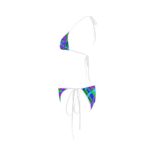 Peacock blues, greens and purples bikini Custom Bikini Swimsuit