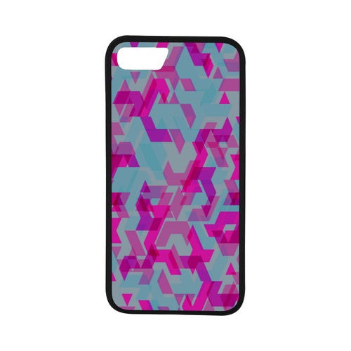 """New iPhone 7 cover in shop : New glass art / pink Rubber Case for iPhone 7 (4.7"""")"""