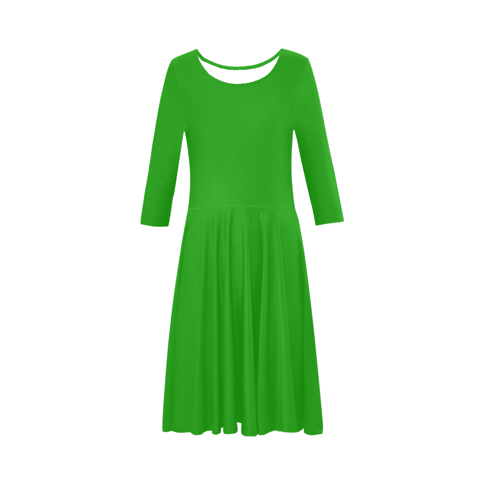 f774ecb08e8e Neon Green Elbow Sleeve Ice Skater Dress (D20)