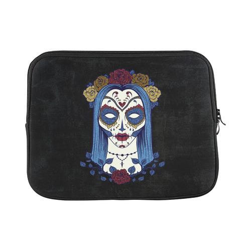 1198ff42a0fa Dark gothic rose sugar skull Laptop Sleeve 11''