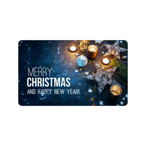 "Merry Christmas and Happy New Year Doormat 30""x18"""