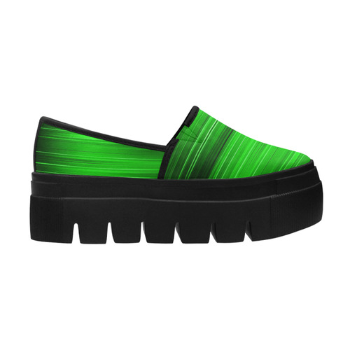 Electrified Static Neon Green Selene Deep Mouth Women Shoes (Model 311)