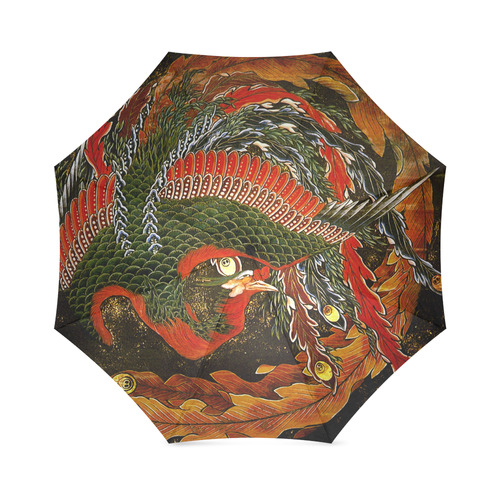 Hokusai Phoenix Firebird Goddess Japanese Foldable Umbrella