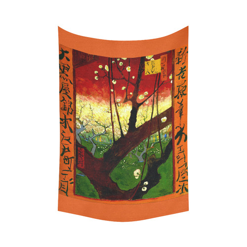 "Van Gogh Flower Plum Orchard Nature Hiroshige Cotton Linen Wall Tapestry 60""x 90"""