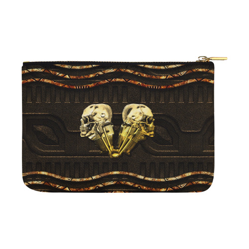 Awesome mechanical skull Carry-All Pouch 12.5''x8.5''