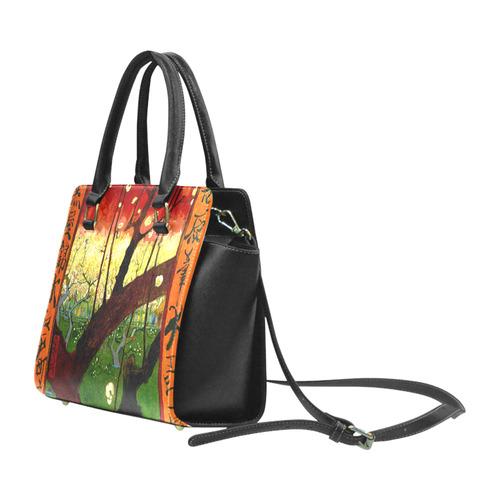 Van Gogh Flower Plum Orchard Nature Hiroshige Classic Shoulder Handbag (Model 1653)