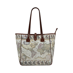 Old world map canvas bag gifts artsadd world old map classic tote bag model 1644 gumiabroncs Choice Image