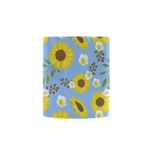 Sunflowers - Blue and Yellow (10) White Mug(11OZ)