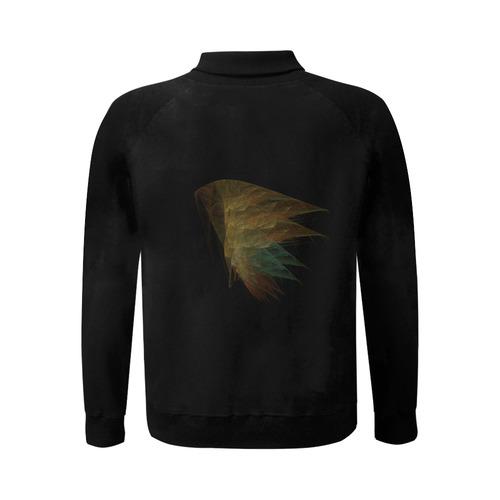 wings of adopholis Men's Baseball jacket (Model H12)